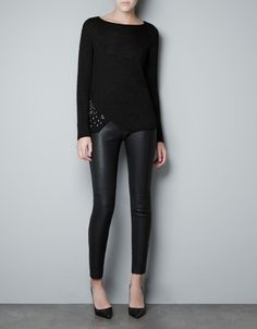 SWEATER WITH SIDE APPLIQUÉ - Knitwear - Woman - ZARA Canada