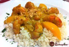 Langostinos al curry. DE RECHUPETE
