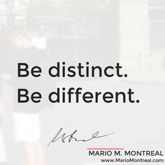 Be different, be distinct, and check this out: https://soundcloud.com/mmmontreal/what-is-most-important-to-you