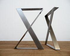 28 X-frame Wide Flat Steel Table Legs 16 W Height 26 by Balasagun
