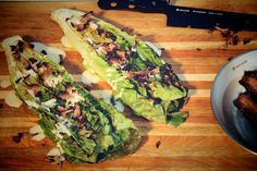 Dirtbag Gourmet: Easy and delicious, here's a camping recipe for grilled romaine with bacon and blue cheese. Yum. http://adv-jour.nl/W5TKGZ