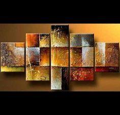 Cuadros Abstractos Modernos En Acrilico Texturadosrelieves