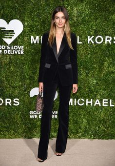 How To Make The Most Of A Black Outfit http://anoteonstyle.com/beautiful-in-black/ Andrea Diaconu at Golden Hearts Awards 2016