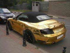 Russian porsche made of gold