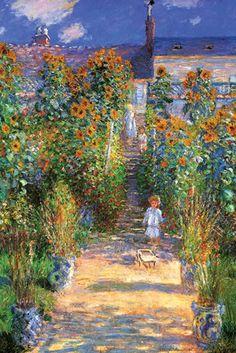 The Artist's Garden at Vétheuil, by Claude Monet