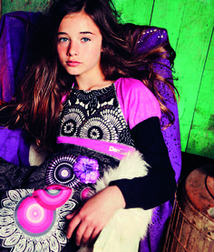 Desigual girl's Aptenia dress. A really original, long-sleeved bubble dress which will make her the coolest of the bunch.