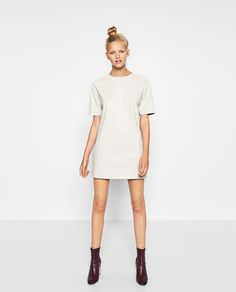 Image 1 of STRAIGHT LEATHER-EFFECT DRESS from Zara