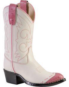 Kids Whip Stitch Western Boots