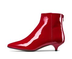 AGL patent leather ankle boot #agl #aglshoes #shoes #madeinitaly #leather #love #style #fashion #design #red #ankleboot