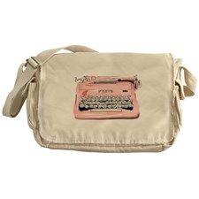 Paris Typewriter Messenger Bag