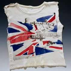 Anarchy in the UK T-shirt, by Vivienne Westwood & Malcolm McLaren, 1977-8, worn and altered by Johnny Rotten.