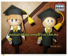 Grad Parties, Sugar Flowers, Biscuit, Pencil, Dolls, Party, Crafts, Boat Crafts, Ideas Party