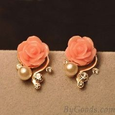 Fashion Rhinestone Bohemia Rose Earrings I love these earrings. I need more jewelry!
