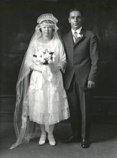 Wedding couple portrait, 1925 Albuquerque - Albuquerque Museum Photo Archives - Albuquerque Museum, Valley College, College Library, Body Adornment, Couple Portraits, Photo Archive, Wedding Couples, Culture, Weddings