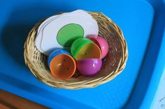 Letter: Ee Object: Egg Theme: Chickens Color: Green ~Bo is 27 months old~ See Carisa's Tot School Printables for . Letter E Activities, Preschool Activities, Gross Motor Skills, Tot School, Matching Games, Jelly Beans, Speech And Language, Lettering, Learning