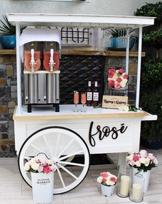 Frose' Cart Services - The Typsy Gypsy Bar - Mobile Coffee Cart SoCal - Kaffee Bar Our Wedding, Dream Wedding, Diy Wedding Bar, Coffee Bar Wedding, Wedding Food Bars, Food Truck Wedding, Garden Wedding, Wedding Venues, Gypsy Bar