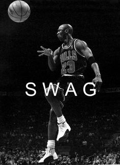 Michael Jordan, don't like the swag across him but great pic of the greatest basketball player of our time.