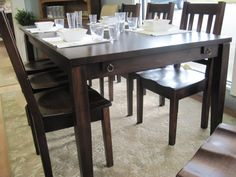 How gorgeous is this dining table and chairs! Modern Country Interiors - Kylie Collection - Solid Maple