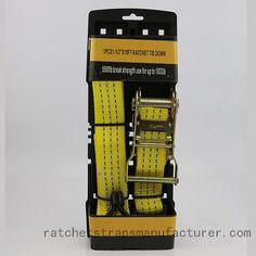WDCS1155501 1PC×1-1/2inch ×10FT Ratchet Tie Down