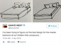 In March, Yeezy tweeted the following: super inspired by my visit to Ikea today , really amazing company… my mind is racing with the possibilities…