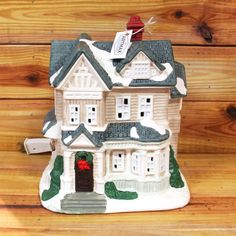 Victorian Illuminated  Christmas House by ArtMaxAntiques on Etsy