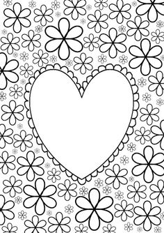 flower adults coloring pages images Coloring Book Pages, Printable Coloring Pages, Coloring Sheets, Diy And Crafts, Paper Crafts, Colorful Drawings, Diy For Kids, Hand Lettering, Valentines Day