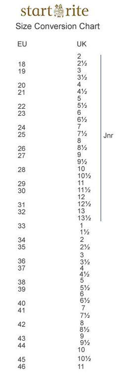 start rite shoe size chart Yubad