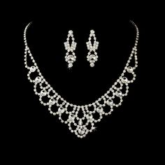 Elegant Rhinestone Quince or Prom Jewelry Set- Affordable Elegance Bridal -