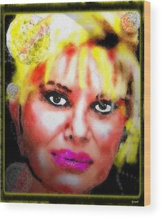 Ivana Trump Wood Print by Daniel Janda. All wood prints are professionally printed, packaged, and shipped within 3 - 4 business days and delivered ready-to-hang on your wall. Choose from multiple sizes and mounting options.