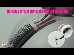 RUSSIAN VOLUME ONLINE  TRAINING 2-6D EYELASH EXTENSIONS - YouTube