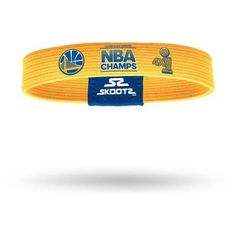 SkootZ Wristband, 2015 Golden State Warriors, Gold, Size: Large