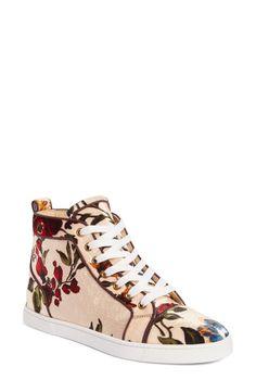 6483d034743f Christian Louboutin Bip Bip Floral Sneaker (Women) Christian Louboutin  Trainers