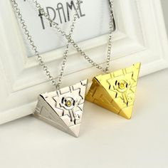 Anime 3D Yu-Gi-Oh Chain Long Necklace Millennial Building Block Awl Pendant Necklace