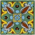 Mexican Tile - Handcrafted Mexican Talavera Tile by Color - Greens