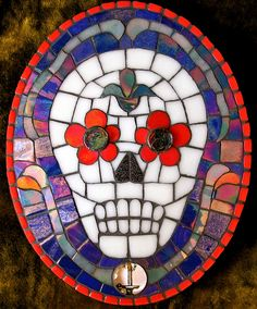glow skull mosaic by Black Cat Bazaar, via Flickr