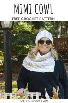 Quick Crochet, Double Crochet, Single Crochet, Free Crochet, Crochet Gifts, Modern Crochet Patterns, Crochet Patterns For Beginners, Crochet Designs, Cowl Patterns