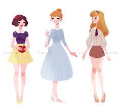 Disney Princess Art by punziella
