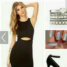 Lbd with cutouts Sexy black little black dress Dresses