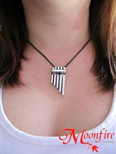 PETER PAN Pan Flute Musical Pipes Necklace by moonfirecharms