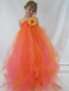 Girls Tulle Tutu Flower Girl Dress by TheCreatorsTouch on Etsy, $50.00