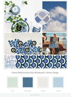Meg Summerfield | Blue Mediterranean Moodboard Greek and Travel Inspired Classic Interior Design Brand