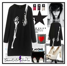 """beautifulhalo 173"" by mamiigou ❤ liked on Polyvore featuring Lulu Guinness and beautifulhalo"