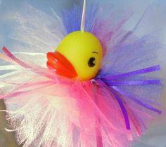 Ballerina In Tulle Tutu Rubber Ducky Pinks Purple For Your Little Girl | Wyverndesigns - Children's on ArtFire