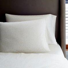 Want. Organic Multi Dot Sheet Set - Stone White from West Elm