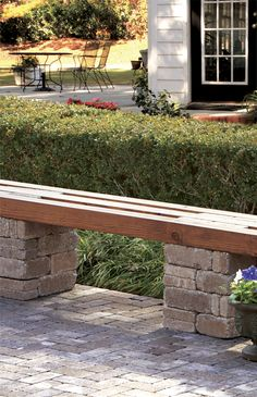 RumbleStone Bench Kit In Sierra Blend At The Home Depot