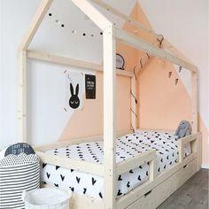 Little dreamers Bedhuisje Finn 200 Baby Bedroom, Home Bedroom, Girls Bedroom, Bedroom Decor, Kids Room Design, Interior Design Living Room, Ideas Hogar, Childrens Beds, House Beds
