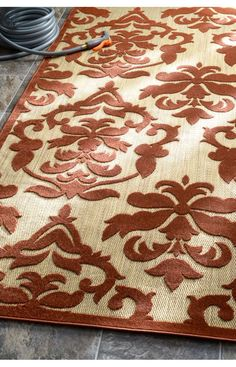 Rugs Usa Alfresco Outdoor Damask Terra Rug Rugs Usa 75 Off Area Rug Rug Carpet Design