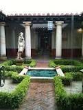 Retortillo - Yacimiento Juliobriga - Detalle del patio central - reproducción de una residencia romana