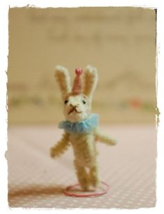 Pipe Cleaner  - Clown Bunny ❤❦♪♫