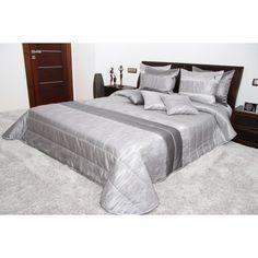 Prehoz na posteľ striebornej farby Bed, Furniture, Home Decor, Decoration Home, Stream Bed, Room Decor, Home Furnishings, Beds, Home Interior Design